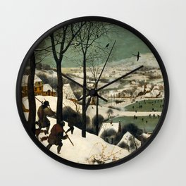 The Hunters in the Snow - Pieter Bruegel the Elder Wall Clock