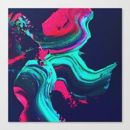 Neon abstract #FEELING Canvas Print