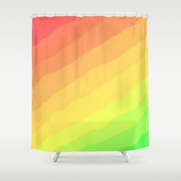 Happy Colorful Rainbow Stripes Shower Curtain