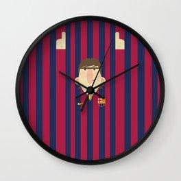 Lionel Messi Barcelona Illustration Print Wall Clock