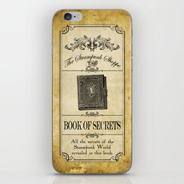 Steampunk Apothecary Shoppe - Book of Secrets iPhone Skin
