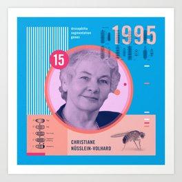 Beyond Curie: Christiane Nüsslein-Volhard Art Print