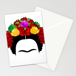 Frida minimalist flowers Stationery Cards