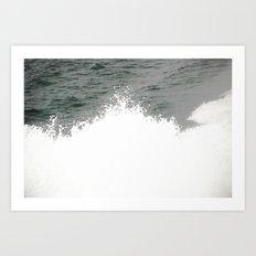 MAINE FERRY WAKE 2 Art Print