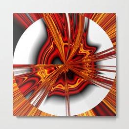 hot metal eruption Metal Print