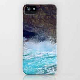 """""""Kauai's Land's End #9"""" with poem: At Times iPhone Case"""