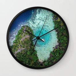 Green Lagoon Coron, The Philippines | Aerial Wall Clock