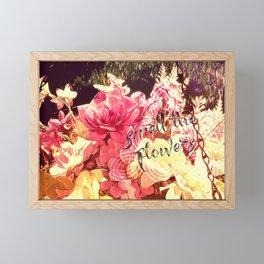 Smell the Flowers Framed Mini Art Print