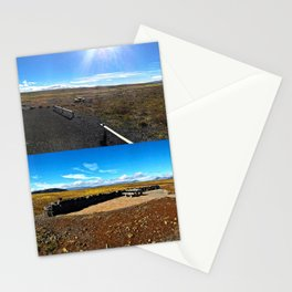 Rest Stop on Iceland's Golden Circle Panorama (Collage) Stationery Cards