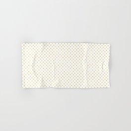 Small Gold Watercolor Polka Dot Pattern Hand & Bath Towel