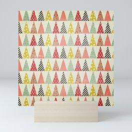 Whimsical Christmas Trees Mini Art Print