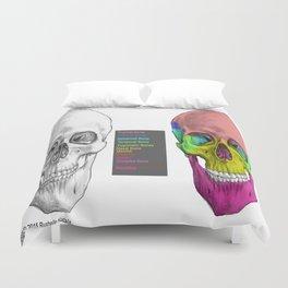 Human Skull Anatomy Duvet Cover