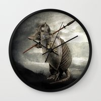eric fan Wall Clocks featuring Armadillo by Eric Fan & Viviana González by Eric Fan