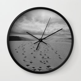 white sand monument Wall Clock