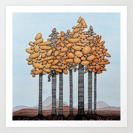 Birch Tree Stand Art Print