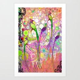 BATIK BIRDS Art Print