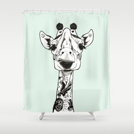 Giraffe Tattooed Shower Curtain
