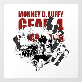 Gear 4 Snakeman Monkey D.Luffy Art Print