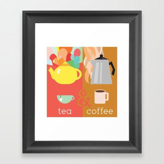 Tea&Coffee Framed Art Print