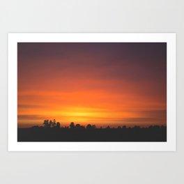 SUNRISE - SUNSET - ORANGE SKY - PHOTOGRAPHY Art Print