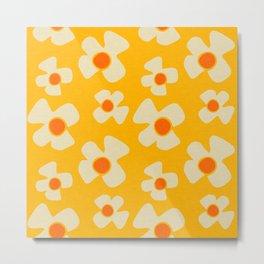 New Flower Daisy Yellow Metal Print