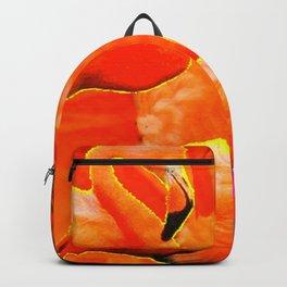 TROPICAL  FUCHSIA ART DECO FLAMINGOS  ART Backpack