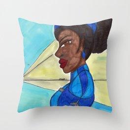 Follow me into the Blue- II Throw Pillow