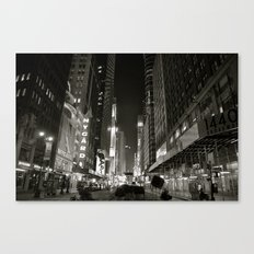 Times Square Noir Canvas Print
