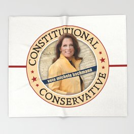 Constitutional Conservative Michele Bachmann Throw Blanket
