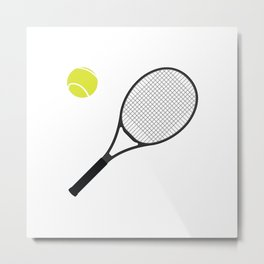 Tennis Racket And Ball 1 Metal Print