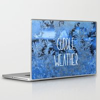 cuddle Laptop & iPad Skins featuring Cuddle Weather by ALLY COXON