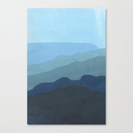 Landscape Blue Canvas Print