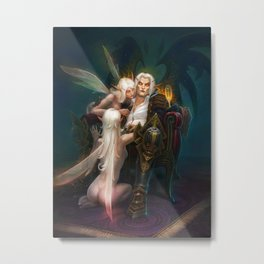 Evening elves Metal Print