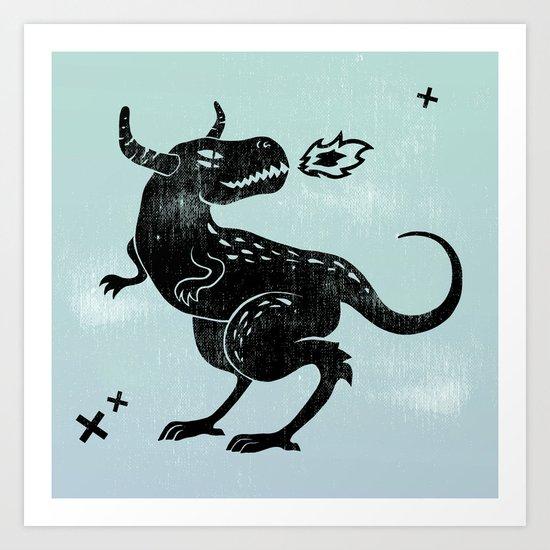 Fire monster Art Print