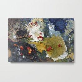 Oil Paint Texture Metal Print
