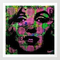 SEXY MONROE IN PURPLE WOMAN GIRL SEX PRINT POSTER Art Print