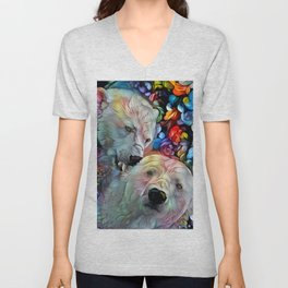 I'm Just Gonna Nibble on Your Ear Maybe a Little Bit... Unisex V-Neck