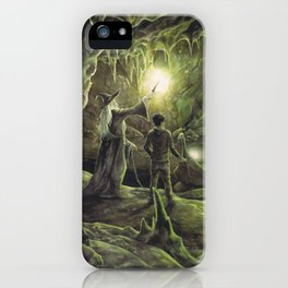 Harry and Dumbledore in the Horcrux Cave iPhone Case