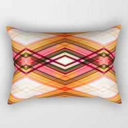 Technologic - Red Orange Futuristic Geometric Abstract Rectangular Pillow