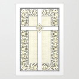 Lace Cross Art Print