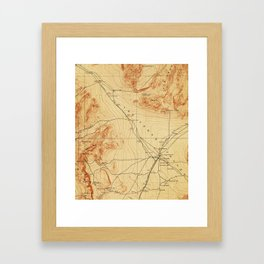 Vintage Map of The Las Vegas Valley NV (1907) Framed Art Print
