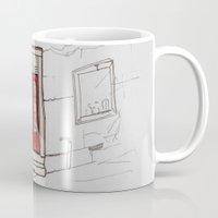 doors Mugs featuring Red Doors  by Krist Norsworthy