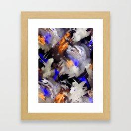 Abstract Watercolor Dark Framed Art Print