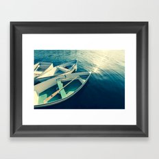 On the Water - Boats Framed Art Print