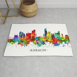 Karachi Skyline Pakistan Rug
