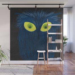 The Blue Owl Wall Mural