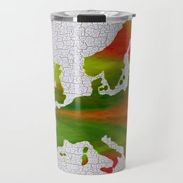 Colorful Art Europe Map Travel Mug