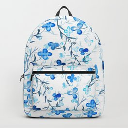 small blue flowers pattern Backpack