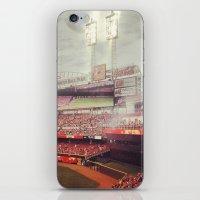 cincinnati iPhone & iPod Skins featuring Cincinnati Reds by  Rikki