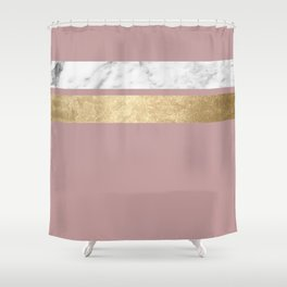 Mauve in the night marble Shower Curtain